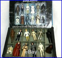 1978 Star Wars First 21 Figure Complete Set Original 12 Back Luke Leia with Case
