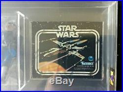 1978 Star Wars Sears Cantina Adv Set of 2 Blue Snaggletooth AFA 70/85/85