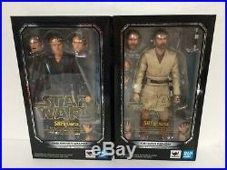 2SET BANDAI S. H. Figuarts Star Wars Revenge of the Sith ANAKIN SKYWALKER + KENOBI