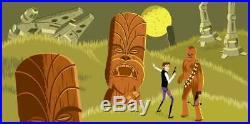 #95/200 Shag LIMITED EDITION Exclusive Star Wars 4 Print Serigraph Tiki Art SET