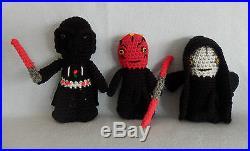 Amigurumi Hand Crocheted Star Wars Complete Set of 34 Dolls NEW yoda r2d2 BB-8