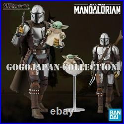 BANDAI S. H. Figuarts STAR WARS MANDALORIAN BESKAR ARMOR + THE CHILD SET
