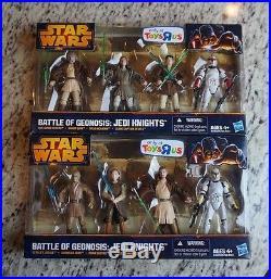 Battle of Geonosis JEDI KNIGHTS Star Wars Battle Packs TRU Exclusive SET #2 MIB
