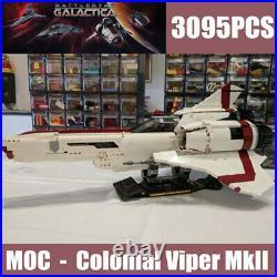 Building Blocks MOC Sets Battlestar Galactica Colonial Viper MK II Bricks Model