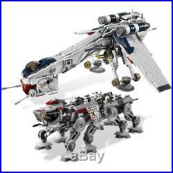 Building Blocks Sets Star Wars 05053 Republic Dropship With AT-OT Walker Kids Toys