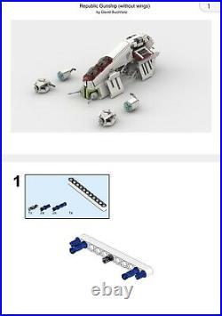 Custom LEGO Star Wars Republic Gunship (Brick Vault)