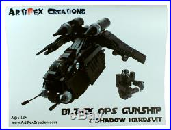 Custom Lego Star War Black OPs Republic Gunship 7676 7163 75021