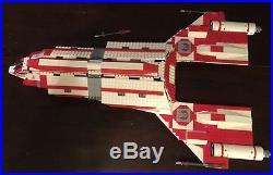 Custom Lego Star Wars Old Republic Jedi Courier Star Ship With10 Mini -Figs