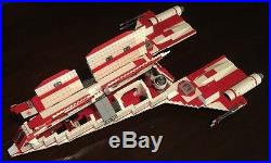 Custom Lego Star Wars Old Republic Jedi Courier Star Ship With10 Mini -Figs