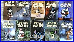 Disney 2008 Star Wars Mystery Pin Collection Set Of 10 Stitch Yoda Complete