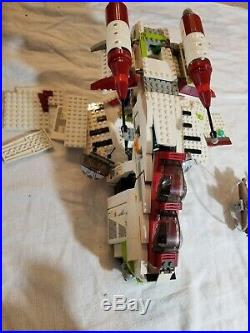 HUGE LOT 7 LEGO Star Wars Sets 4504 75103 7676 7163 7674 8088 75085 See Notes