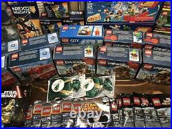 Huge Lego Lot Sets Poly bags Brand New Disney Star Wars Super Heroes And More