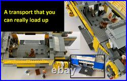 Hugely expanded Lego Star Wars Resistance I-TS Transport, fully open + loadable