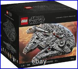 LEGO 75192 Star Wars Ultimate Millennium Falcon Building Kit 7541 Piece SEALED