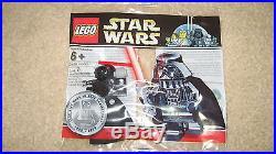 LEGO Chrome Darth Vader Figure Star Wars 10th Anniversary Rare BRAND NEW