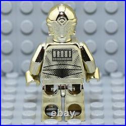 LEGO Minifigur sw0158 C-3PO Gold crome 30 Jahre Star Wars RARITÄT NEU a1