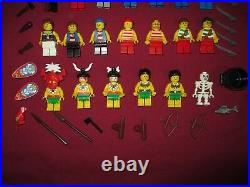 LEGO NATIVES, ISLANDERS, PIRATES Minifigures Lot. 20 Figures Weapons ETC