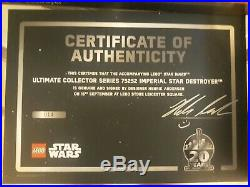 LEGO STARWARS 75252 Imperial Star Destroyer SIGNED + EXTRAS #014/200