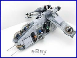 LEGO STAR WARS Custom Mandalorian Light Bluish Grey Gunship 75021 75267