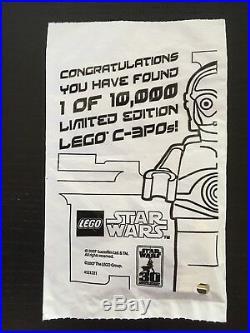 LEGO Star Wars Gold chrome plated C-3PO Sealed in original bag
