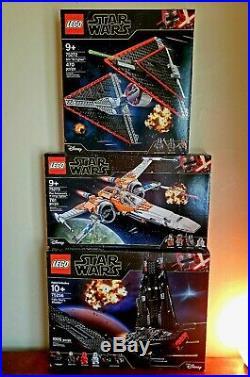 LEGO Star Wars HUGE lot 75256 Kylo Rens Shuttle, 75272 Tie Fighter, 75273 X-Wing