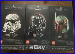 LEGO Star Wars Helmet Stormtrooper Boba Fett TIE Fighter Pilot Limited In Hand