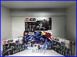 LEGO Star Wars Holiday lot set # 75279, 75283, x2 75280 all NIB condition