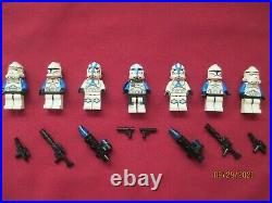 LEGO Star Wars Minifigures LOT, Captain Rex & Clone Troopers & Weapons