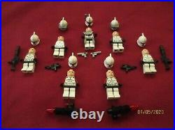 LEGO Star Wars Minifigures LOT Commander Fox, 6 Clones Troopers, Weapons