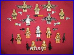 LEGO Star Wars Minifigures LOT. Geonosians & Geonosis Troopers Lot HTF