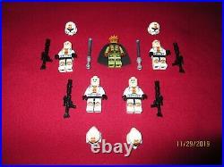 LEGO Star Wars Minifigures LOT, Jedi Knight Kao Cen Darach & Sith Troopers