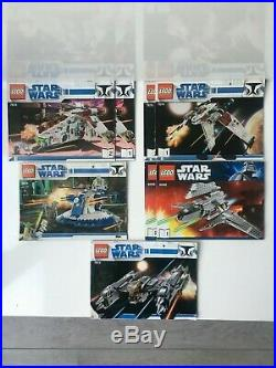 LEGO Star Wars Republic Gunship (7676), 8018, 8096, 7673 and 7674 LOT COMPLETE
