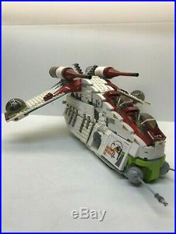 LEGO Star Wars Republic Gunship 7676 99.9% Complete, Instructions, Free Shipping