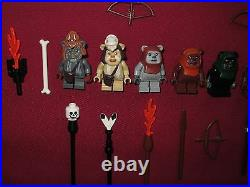 LEGO Star Wars minifigures Ewoks LOT Teebo, Logray, Chirpa, Wicket, Wunko, Tippet +