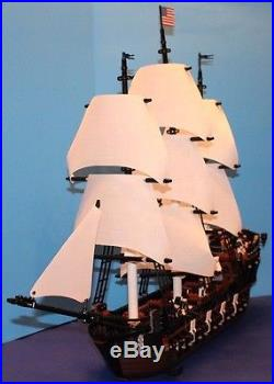 LEGO brick MOC 10210 USS CONSTITUTION Custom Set with8 Cannons 10 Minifigure Crew