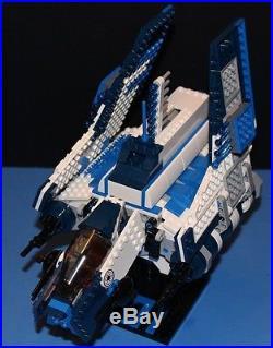 LEGO brick STAR WARS Custom 8019 set 501st BLUE REPUBLIC ATTACK SHUTTLE +figs