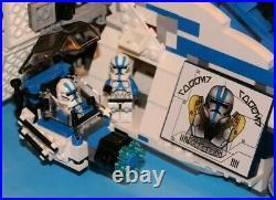 LEGO brick STAR WARS Custom Hybrid MOC Blue 501 REPUBLIC GUNSHIP +12 Minifigures
