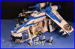 LEGO brick STAR WARS PHASE II 501st BLUE REPUBLIC GUNSHIP CUSTOM SET 100% LEGO