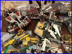 Lego Bulk Lot Star Wars Partially Built Sets 14 Lbs 7754 7669 75025