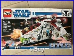 Lego Star Wars 7676 Republic Attack Gunship Factory Sealed New