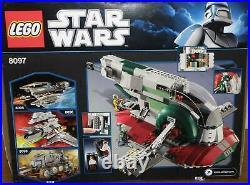 Lego Star Wars 8097 Slave 1 / Slave I mit Figuren Anleitung OVP 100% komplett