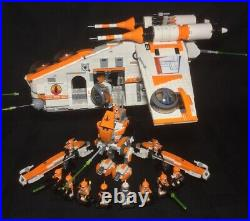 Lego Star Wars Custom Republic Gunship 75021 MOC 212th Commander Cody Orange