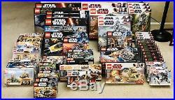 Lego Star Wars Lot Bundle 51 New Sealed Sets Retired Sets