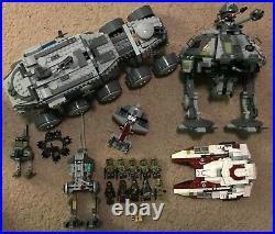 Lego Star Wars Lot Clone Turbo Tank Republic Fighter Tank AT-AP Walker Kashyyyk