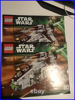 Lego Star Wars Republic Gunship Set 75021 100% Complete With Instructions