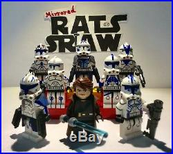 Lego Star Wars minifigures Clone Custom Troopers Anakin Skywalkers 501st