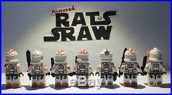 Lego Star Wars minifigures Clone Custom Troopers Obi Wan Kenobis 212th