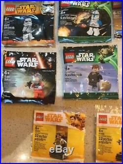 Lego Star Wars polybag minifigure collection all 29 figures complete set