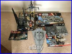 Lego star wars sets used lot, star destroyer, Kylo Ren Shuttle, B-Wing, Falcon
