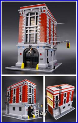 NEW CUSTOM GHOSTBUSTERS FIREHOUSE C0MPAT! BLE 75827 Set + Manual Intstruction